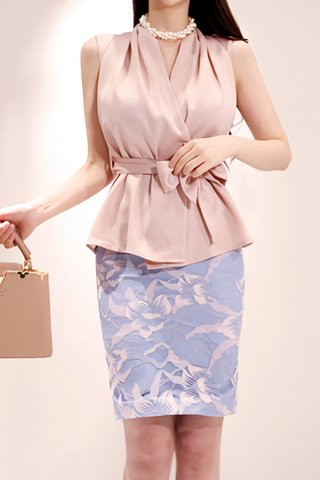 BACKORDER - Mallory Sleeveless Top With Floral Skirt Set