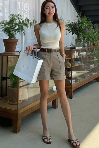 BACKORDER - Myrtle Knit Top With Belted Short Set