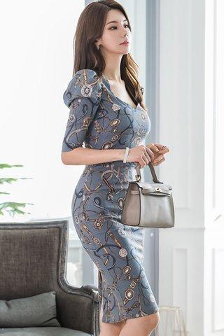 BACKORDER - Sedona Sleeve Printed Dress
