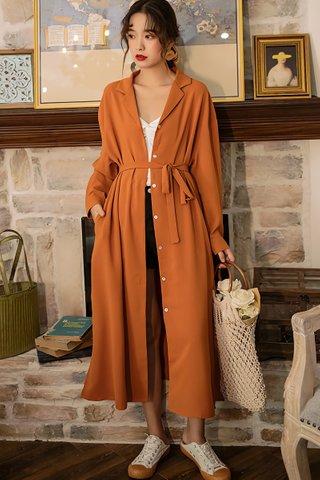 BACKORDER - Almber Collar Sleeve Outerwear Dress