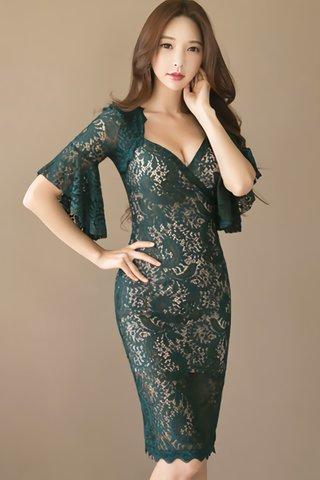 BACKORDER - Chisha Lace Sleeve Dress
