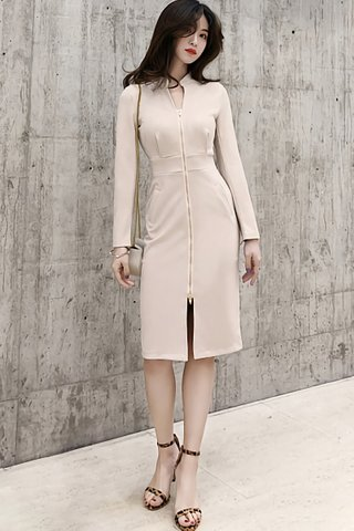 BACKORDER - Elmily Zipper Sleeve Dress