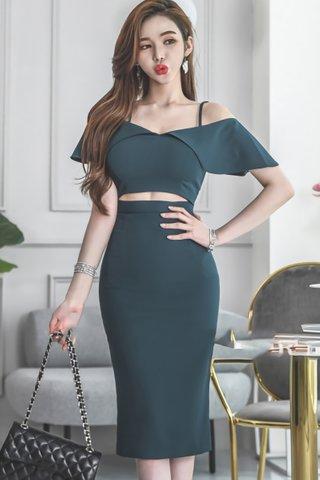 BACKORDER - Emery Cold Shoulder Cutout Dress