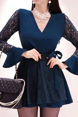 BACKORDER - Kanie Lace Bell Sleeve Dress