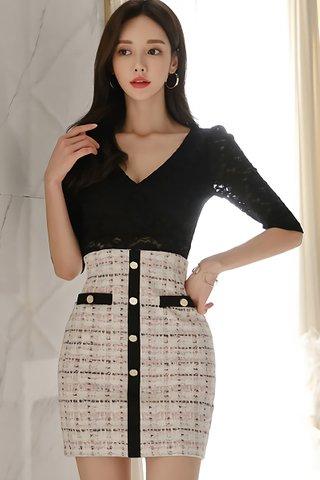 BACKORDER - Kelara V-Neck Lace Mini Dress