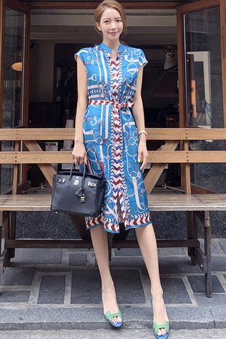 BACKORDER - Miney Abstract Print Sleeveless Dress