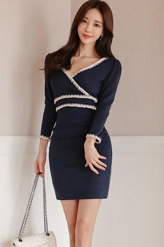 BACKORDER - Nellie Sleeve Tweed Dress