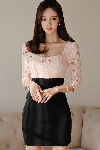 BACKORDER - Pelna Lace Colorblock Mini Dress