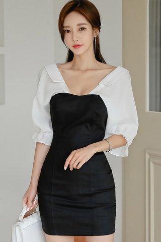 BACKORDER - Shailee Sleeve Back Ribbon Tie Dress