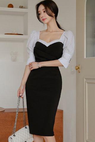 BACKORDER - Sorrenta Puff Sleeve Bandage Dress