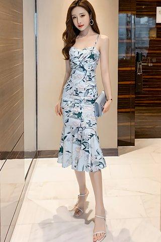 BACKORDER - Sorrento Floral Print Ruffle Hem Dress