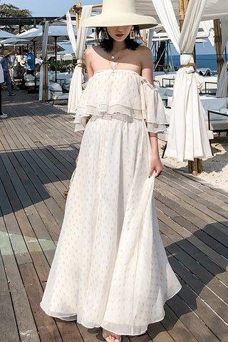 BACKORDER - Valenca Off Shoulder Maxi Dress
