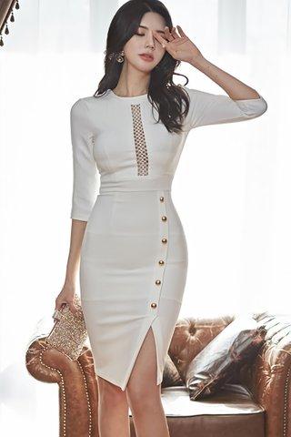 BACKORDER - Elmsa Crochet Single Breasted Dress