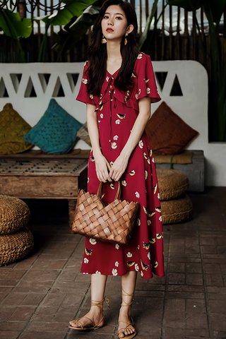 INSTOCK - Jadice Floral Print V-Neck Dress