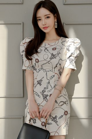 BACKORDER - Jaevin Abstract Print Mini Dress