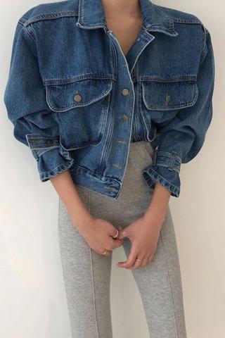 BACKORDER - Jarvelle Oversized Denim Outerwear In Dark Blue