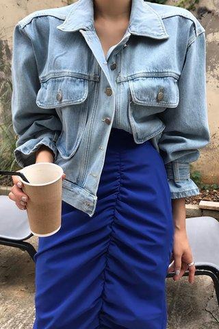 BACKORDER - Jarvelle Oversized Denim Outerwear In Light Blue