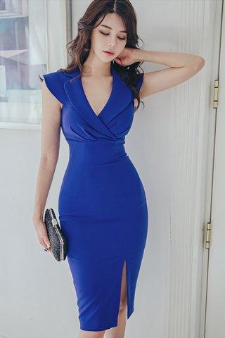 BACKORDER - Jayce V-Neck Foldover Dress
