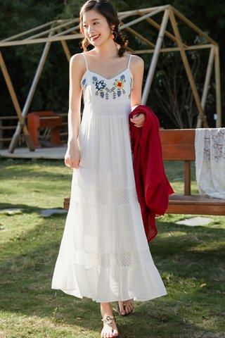 BACKORDER - Jayento Embroidery Sleeveless Dress