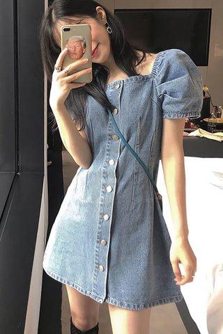 BACKORDER - Jeniae Denim Sleeve Mini Dress