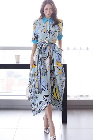 BACKORDER - Jolisse Collar Abstract Print Dress
