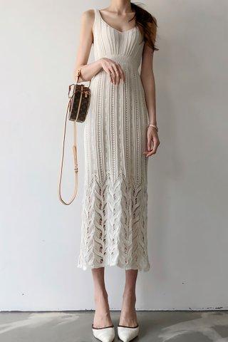 BACKORDER - Katlyn V-Neck Sleeveless Dress In White
