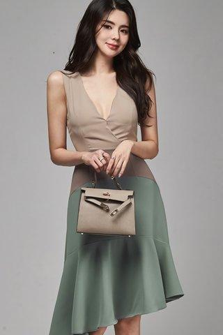 BACKORDER - Klyara V-Neck Colorblock Dress