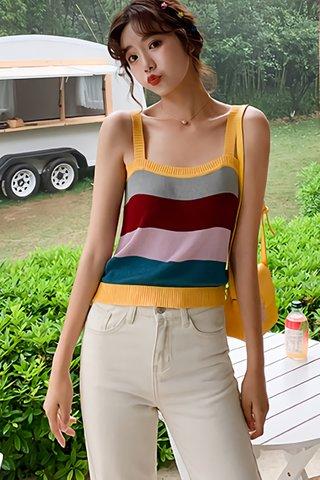 BACKORDER - Marisa Colorblock Knit Top
