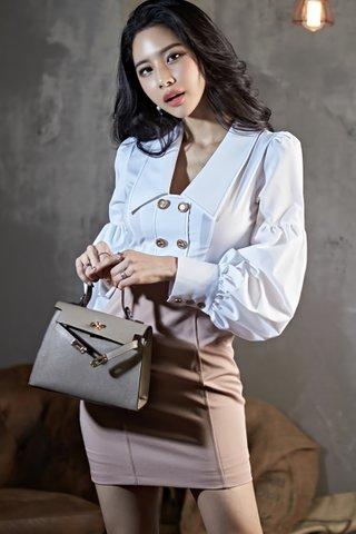 BACKORDER - Marsey V-Neck Sleeve Mini Dress