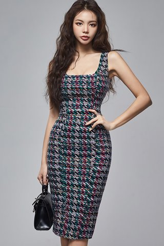 BACKORDER - Milene Printed Square Neck Dress