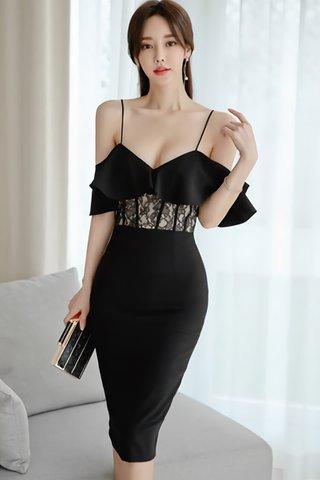 BACKORDER - Pamlyn Cold Shoulder Lace Dress