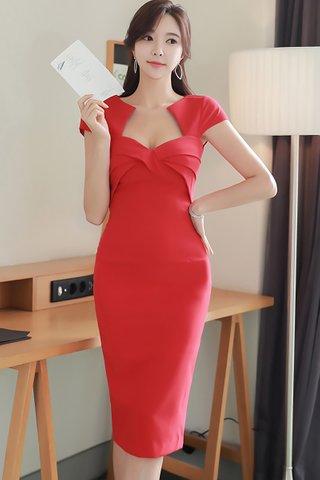 BACKORDER - Rosalyn Cutout Bustier Dress