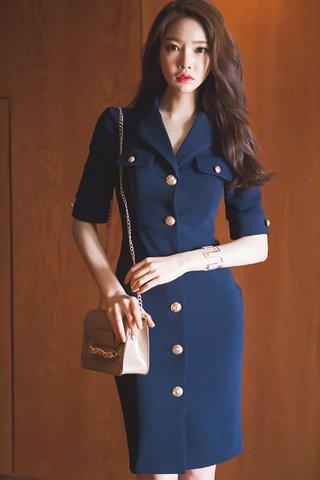BACKORDER - Sarina Collar Single Breasted Dress
