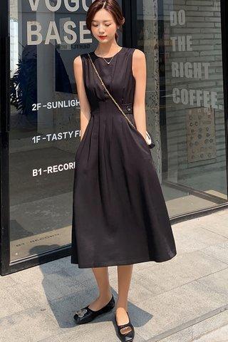 BACKORDER - Valery Sleeveless Dress In Black