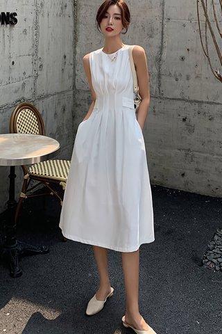 BACKORDER - Valery Sleeveless Dress In White