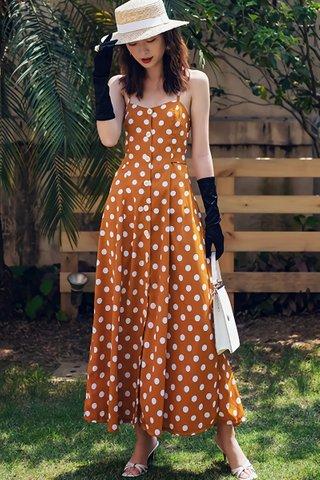 BACKORDER - Wilma Polka Dot Back Criss Cross Dress