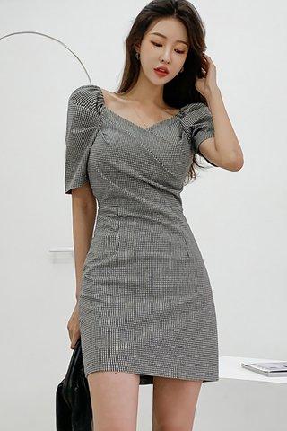 BACKORDER - Chera V-Neck Plaid Dress