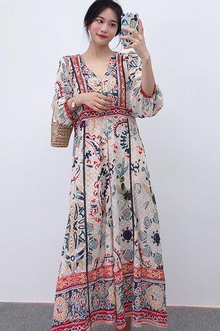 BACKORDER - Constina Floral Sleeve Maxi Dress