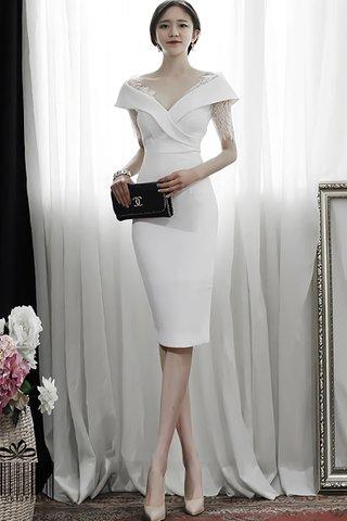 BACKORDER - Jasica Lace Sleeve Dress In White