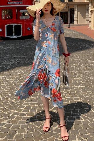 BACKORDER - Lisdra Floral Ruffle Hem Dress