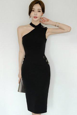 BACKORDER - Mardy One Shoulder Dress In Black