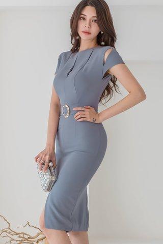 BACKORDER - Natsha Slit Cut Out Dress