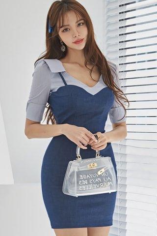 BACKORDER - Stacey Pinstripe Shirt Dress