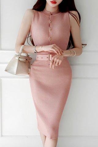 BACKORDER - Zevita Sleeveless Knit Dress In Light Pink