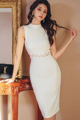 BACKORDER - Alandy Crochet Bareback Dress
