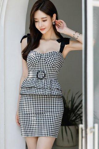 BACKORDER - Angesa Gingham Bustier Dress