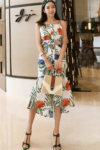 BACKORDER - Ellma Floral Print Dress In White