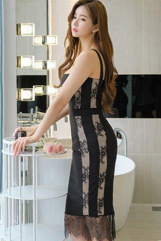 BACKORDER - Fayce Side Lace Dress