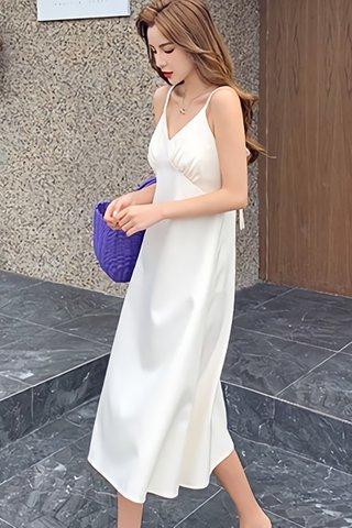BACKORDER - Faziae V-Neck Sleeveless Dress In Cream