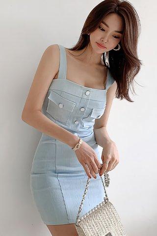 INSTOCK - Janye Sleeveless Mini Dress In Light Blue